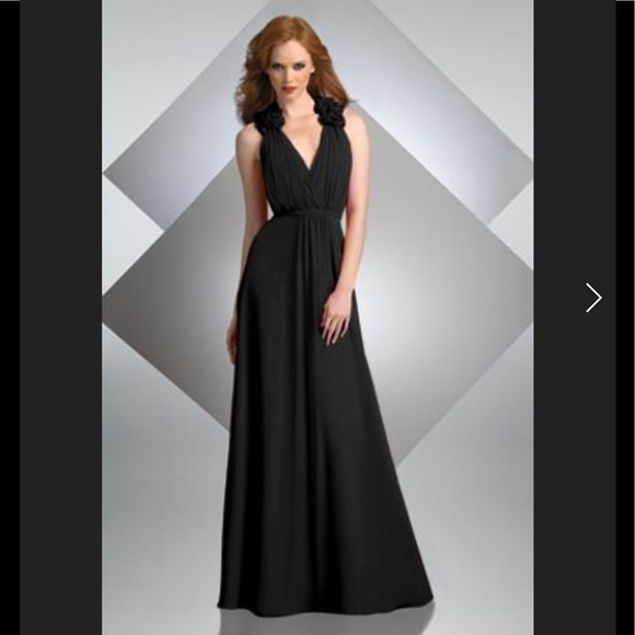 38ec7b67387c Custom Dresses & Skirts - Bari Jay Style 227 Black Bridesmaids Gown Dress